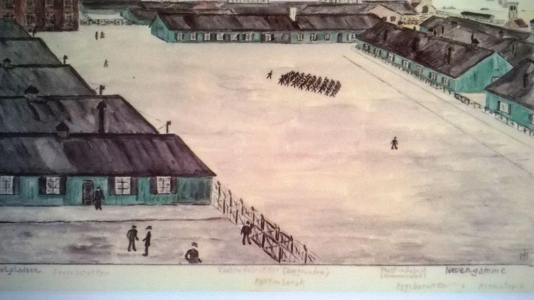 tekening kamp Neuengamme