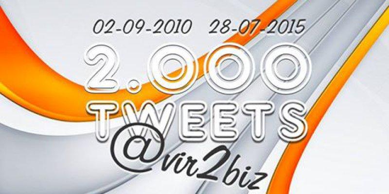 2.000 tweets in 5 jaar met ons Twitteraccount