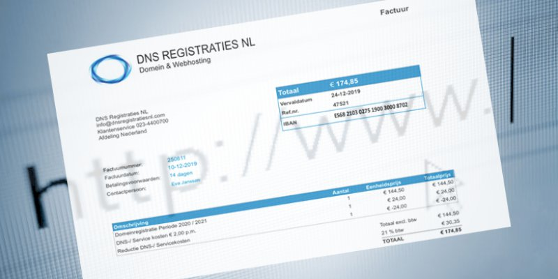 DNS Registraties NL spookfacturen