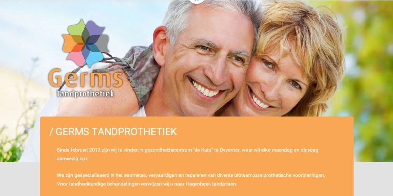 Nieuwe website Germs Tandprothetiek uit Colmschate online