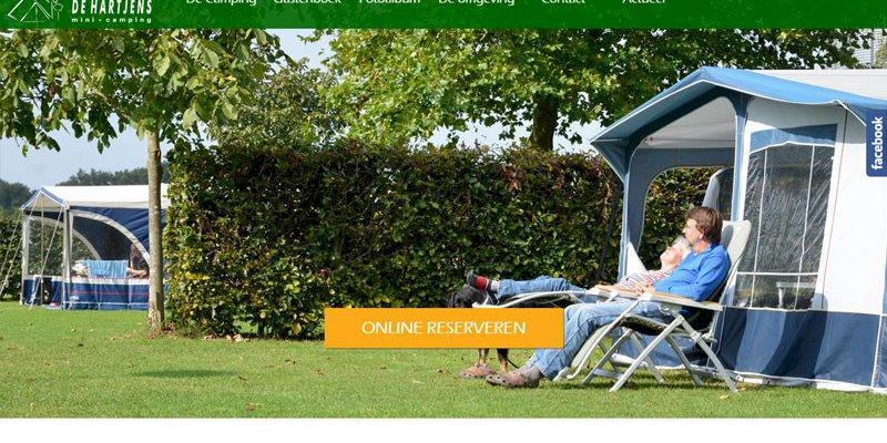 Vernieuwde website camping de Hartjens uit Azewijn online