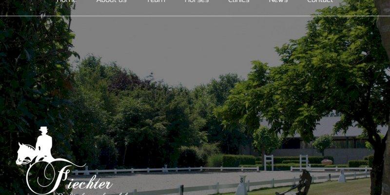 Vernieuwde website Fiechter Quality dressage horses BVBA uit Merksplas online