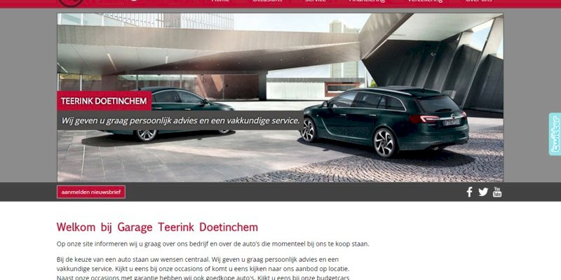 Vernieuwde website Garage Teerink uit Doetinchem online