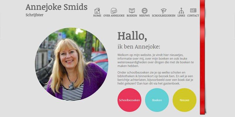 Vernieuwde website kinderboekenschrijfster Annejoke Smids online
