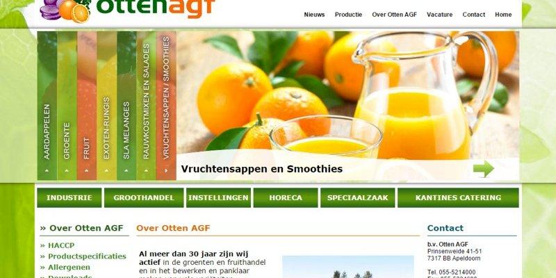 Vernieuwde website Otten AGF uit Apeldoorn online