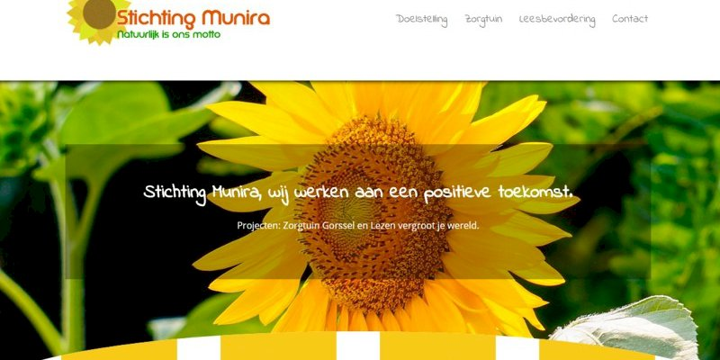 Vernieuwde website stichting Munira online